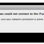 iTunes Error Message