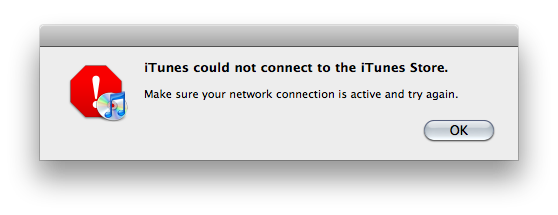 iTunes Error Message